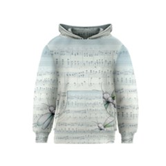 Vintage Blue Music Notes Kids  Pullover Hoodie