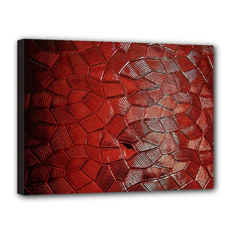 Pattern Backgrounds Abstract Red Canvas 16  X 12