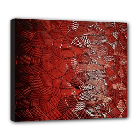 Pattern Backgrounds Abstract Red Deluxe Canvas 24  X 20