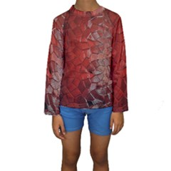 Pattern Backgrounds Abstract Red Kids  Long Sleeve Swimwear
