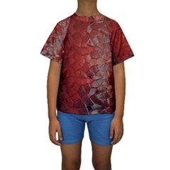 Pattern Backgrounds Abstract Red Kids  Short Sleeve Swimwear