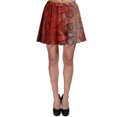 Pattern Backgrounds Abstract Red Skater Skirt