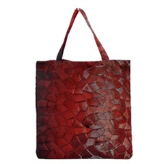 Pattern Backgrounds Abstract Red Grocery Tote Bag