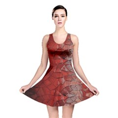 Pattern Backgrounds Abstract Red Reversible Skater Dress