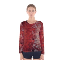 Pattern Backgrounds Abstract Red Women s Long Sleeve Tee