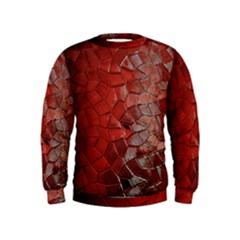 Pattern Backgrounds Abstract Red Kids  Sweatshirt