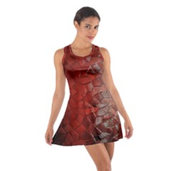 Pattern Backgrounds Abstract Red Cotton Racerback Dress