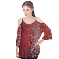 Pattern Backgrounds Abstract Red Flutter Tees