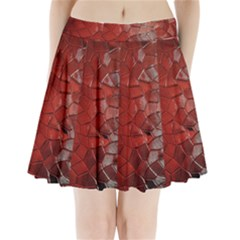 Pattern Backgrounds Abstract Red Pleated Mini Skirt