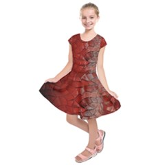 Pattern Backgrounds Abstract Red Kids  Short Sleeve Dress
