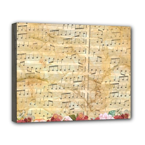 Background Old Parchment Musical Deluxe Canvas 20  X 16