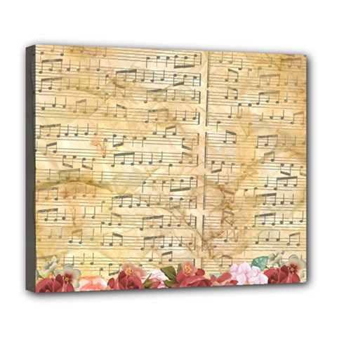 Background Old Parchment Musical Deluxe Canvas 24  X 20
