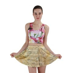 Background Old Parchment Musical Mini Skirt