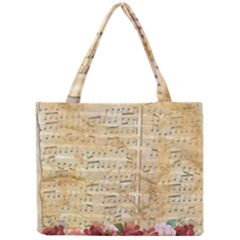 Background Old Parchment Musical Mini Tote Bag
