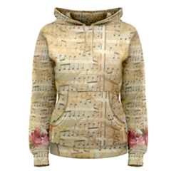 Background Old Parchment Musical Women s Pullover Hoodie
