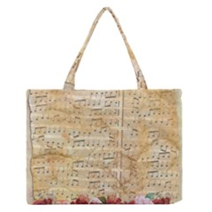 Background Old Parchment Musical Zipper Medium Tote Bag