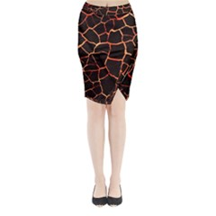 Magma Midi Wrap Pencil Skirt