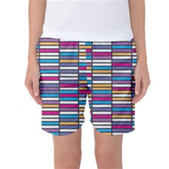 Color Grid 01 Women s Basketball Shorts