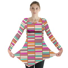 Color Grid 02 Long Sleeve Tunic