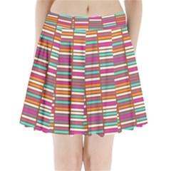 Color Grid 02 Pleated Mini Skirt