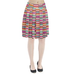 Color Grid 02 Pleated Skirt