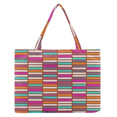 Color Grid 02 Zipper Medium Tote Bag