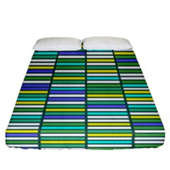 Color Grid 03 Fitted Sheet (california King Size)