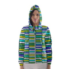 Color Grid 03 Hooded Wind Breaker (women)