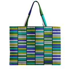 Color Grid 03 Zipper Mini Tote Bag
