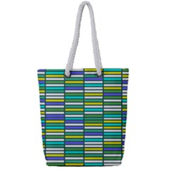 Color Grid 03 Full Print Rope Handle Tote (small)