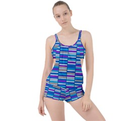 Color Grid 04 Boyleg Tankini Set