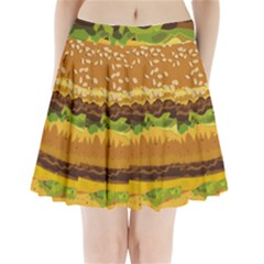 Burger Pleated Mini Skirt