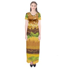 Burger Short Sleeve Maxi Dress