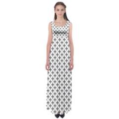Black Cross Empire Waist Maxi Dress