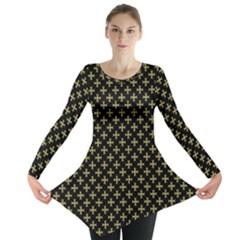 Yellow Cross Long Sleeve Tunic