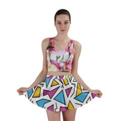 Retro Shapes 01 Mini Skirt