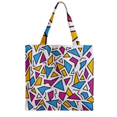 Retro Shapes 01 Grocery Tote Bag