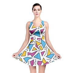 Retro Shapes 01 Reversible Skater Dress