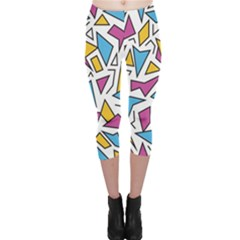 Retro Shapes 01 Capri Leggings