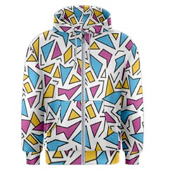 Retro Shapes 01 Men s Zipper Hoodie