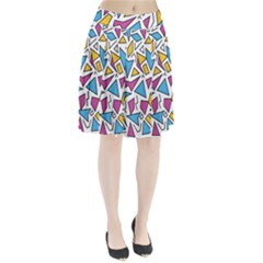 Retro Shapes 01 Pleated Skirt