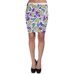Retro Shapes 02 Bodycon Skirt