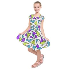 Retro Shapes 02 Kids  Short Sleeve Dress
