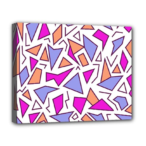 Retro Shapes 03 Deluxe Canvas 20  X 16