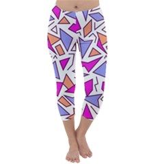 Retro Shapes 03 Capri Winter Leggings
