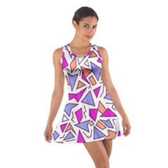 Retro Shapes 03 Cotton Racerback Dress