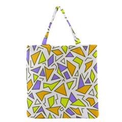 Retro Shapes 04 Grocery Tote Bag
