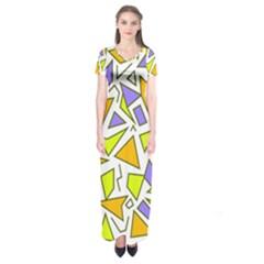 Retro Shapes 04 Short Sleeve Maxi Dress