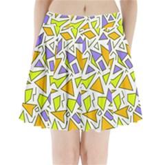 Retro Shapes 04 Pleated Mini Skirt