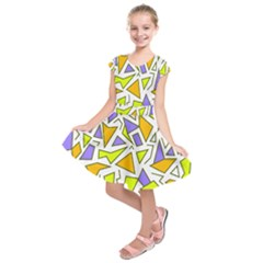 Retro Shapes 04 Kids  Short Sleeve Dress